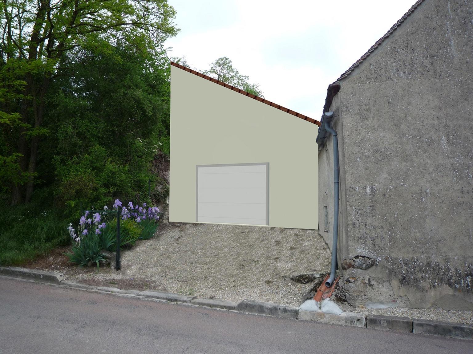 paul architecture creation d un garage esnon 89 mai 2009. Black Bedroom Furniture Sets. Home Design Ideas