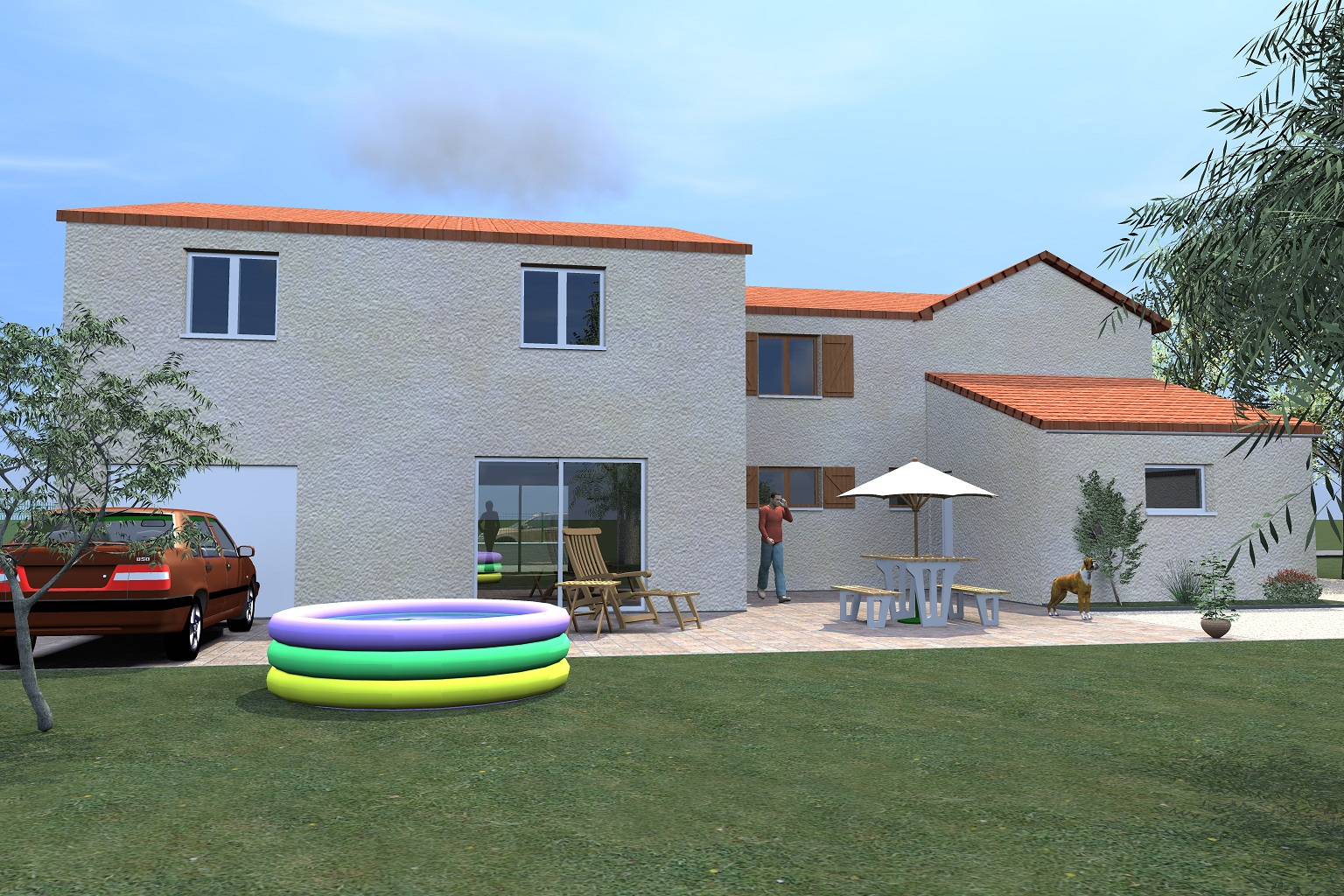 Paul architecture agrandissement maison amagne 08 for Permis de construire pour agrandissement